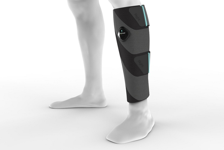 ElastiMed's active compression stocking mimics rhythmic calf muscle contractions and stimulates blood flow